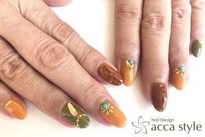 autumn color nail